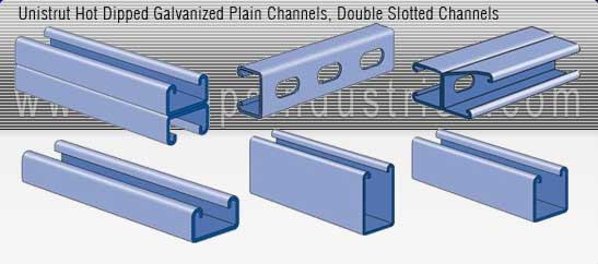 strut channel systems manufacturer india - Plain Channels, Slotted Channel, hotdip galvanized strut channels - exporters seller uk, usa, dubai, australia